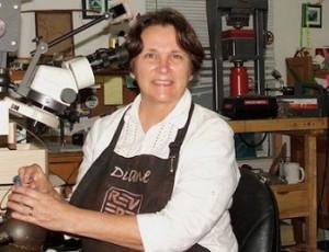 Diane Rennie in her shop.